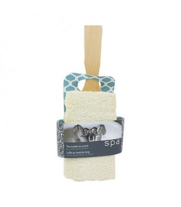 URBAN SPA NATURAL LOOFAH SCRUBBER WITH HANDLE 1 EA