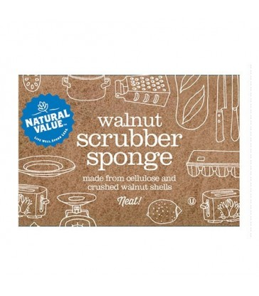 NATURAL VALUE WALNUT SCRUBBER SPONGE 1 EA