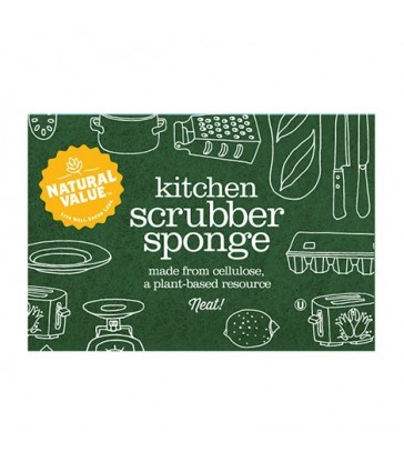 NATURAL VALUE KITCHEN SCRUBBER SPONGE 1 EA